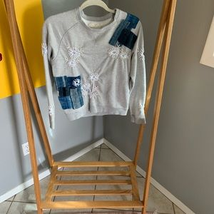 Patched/Embroidered Anthropologie Sweater